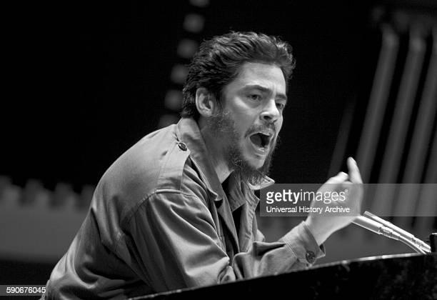 Puerto Rican and Spanish actor Benicio Del Toro as Argentine Marxist revolutionary Ernesto 'Che' Guevara in the biographical film 'Che' circa 2008