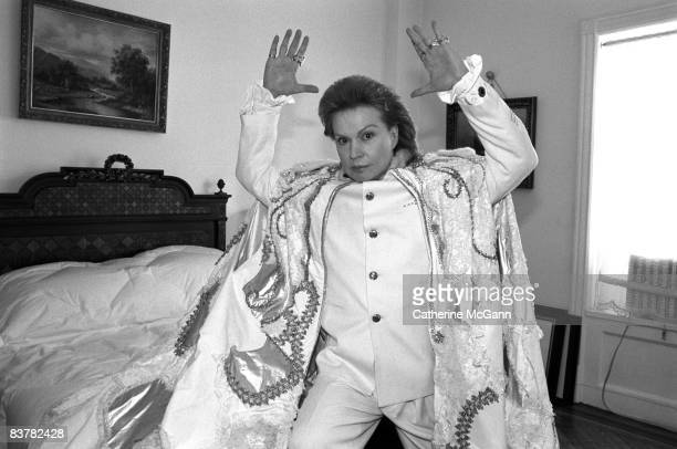 Puerto Rican astrologer Walter Mercado poses for a portrait in February 1996 in New York City New York