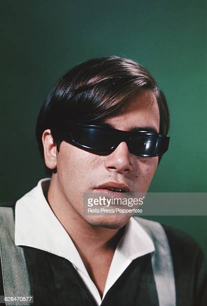 Puerto Rican born singer and guitarist Jose Feliciano pictured wearing dark glasses in 1969