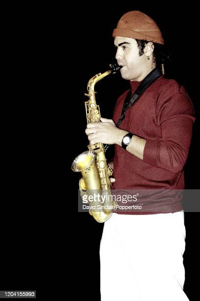Puerto Rican jazz musician and composer Edgar Abraham performs live on stage at Ronnie Scott's Jazz Club in London on 6th December 2004