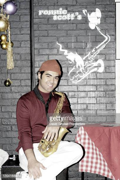 Puerto Rican jazz musician and composer Edgar Abraham posed at Ronnie Scott's Jazz Club in London on 6th December 2004