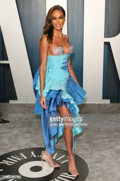 Puerto Rican model Joan Smalls attends the 2020 Vanity Fair Oscar Party following the 92nd Oscars at The Wallis Annenberg Center for the Performing...