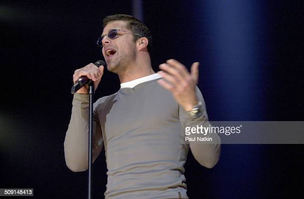 Puerto Rican musician and actor Ricky Martin performs onstage during the 'Tribute to Brian Wilson' concert at Radio City Music Hall New York New York...
