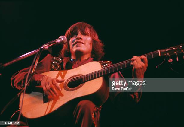 Puerto Rican musician and singer Jose Feliciano performs live on stage at the Theatre Royal Drury Lane in London in May 1979