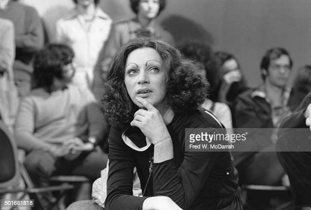 Puerto Rican drag performer and actress Holly Woodlawn appears on an episode of 'The David Susskind Show' devoted to Andy Warhol and the scene...