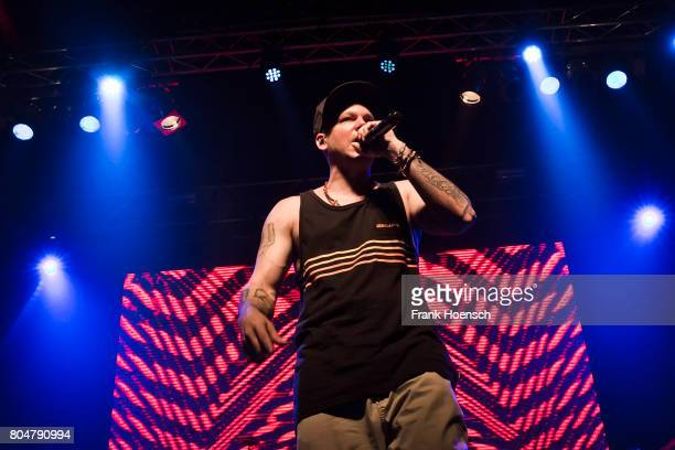 Puerto Rican rapper Residente performs live on stage during a concert at the Huxleys on June 30 2017 in Berlin Germany