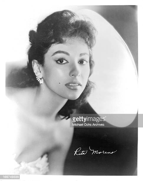 Puerto Rican singer and actress Rita Moreno poses for a portrait in circa 1955
