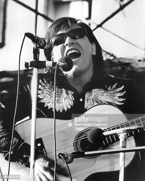 Puerto Rican singer and guitarist Jose Feliciano performing circa 1970