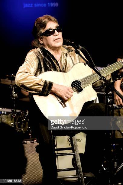 Puerto Rican singer and guitarist Jose Feliciano performs live on stage at Ronnie Scott's Jazz Club in Soho London on 27th September 2010