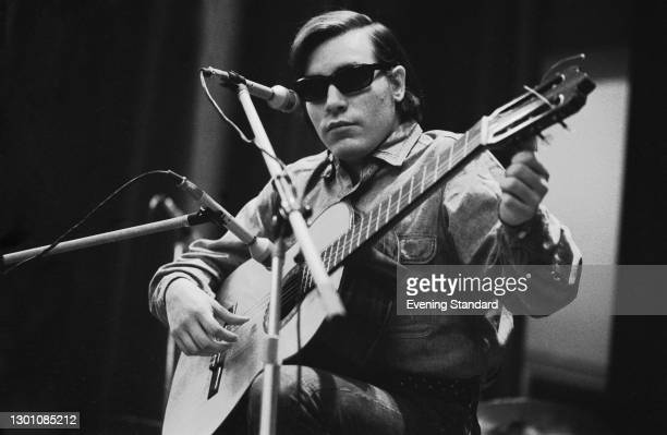 Puerto Rican singer and musician José Feliciano performs at the Royal Albert Hall in London, UK, 5th March 1973. The composer of the popular...