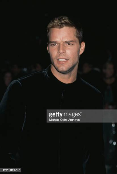 Puerto Rican singer Ricky Martin attends the 1999 Vanity Fair Oscar Party, held at Morton's Restaurant in Los Angeles, California, 21st March 1999.