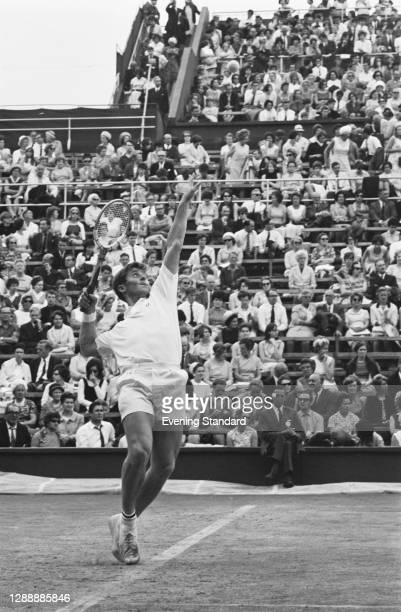 Puerto Rican tennis place Charlie Pasarell at the Wimbledon Championships in London, UK, 1967.