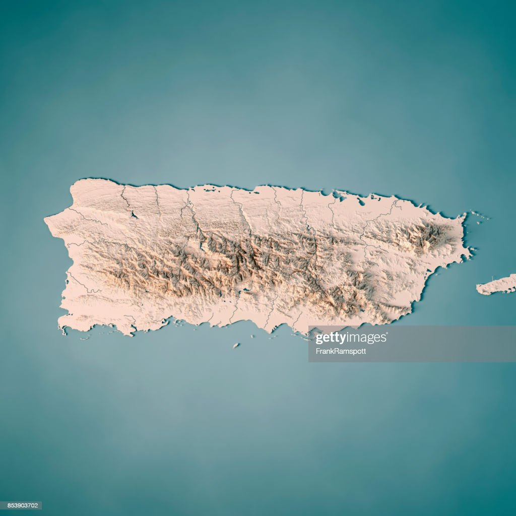Puerto Rico 3d Render Topographic Map Neutral Stock Photo Getty Images