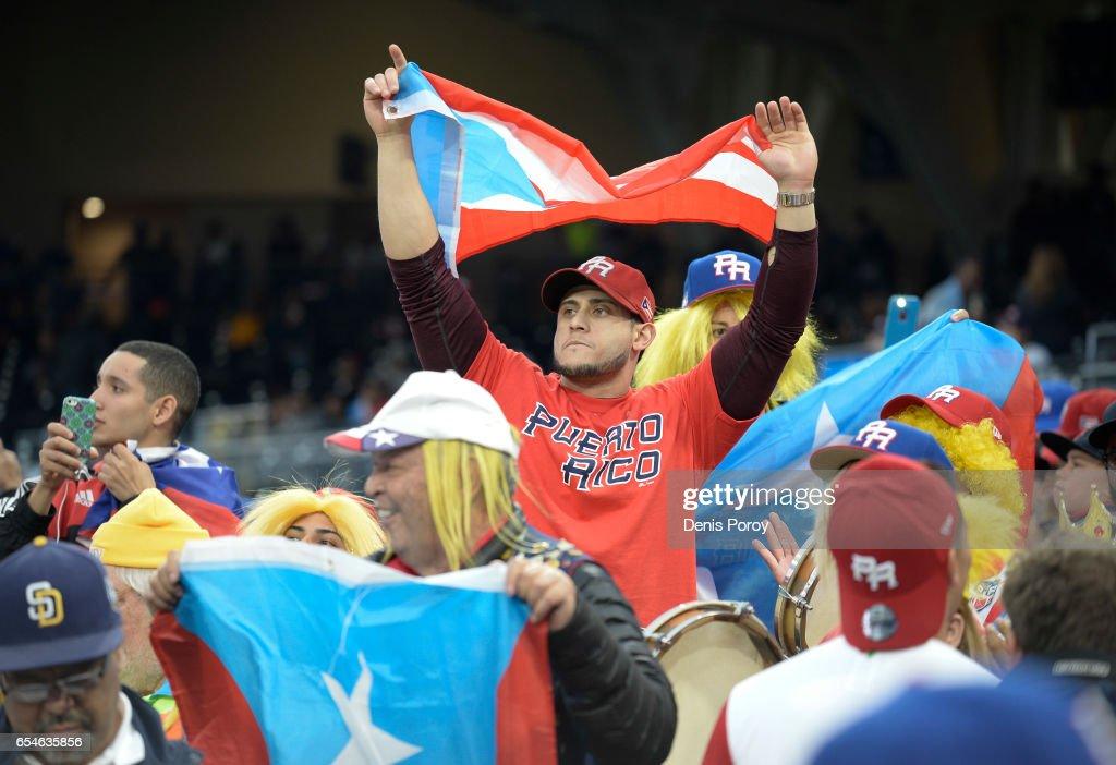 CA: World Baseball Classic - Pool F - Game 4 - United States v Puerto Rico