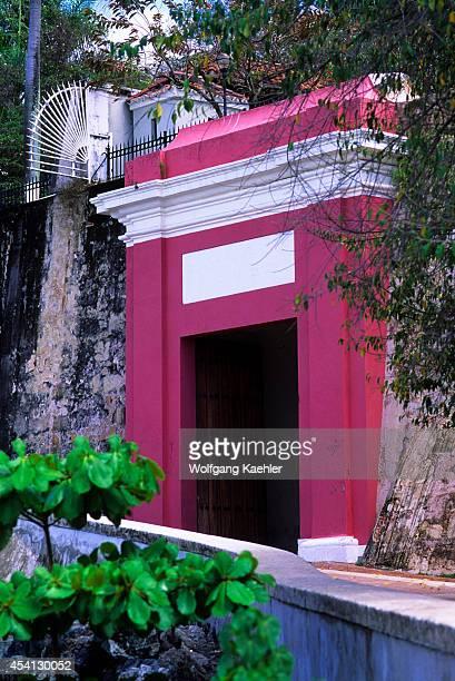 Puerto Rico Old San Juan City Wall La Puerta De San Juan