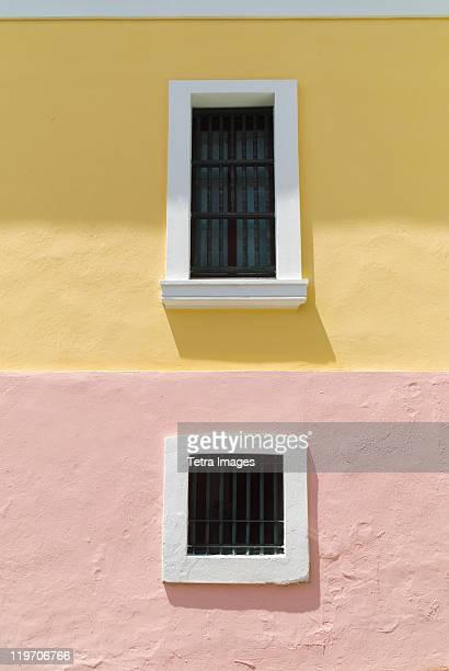 puerto rico, old san juan, historic house exterior - san juan stock pictures, royalty-free photos & images