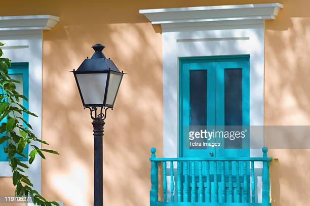 Puerto Rico, Old San Juan, House and street lamp