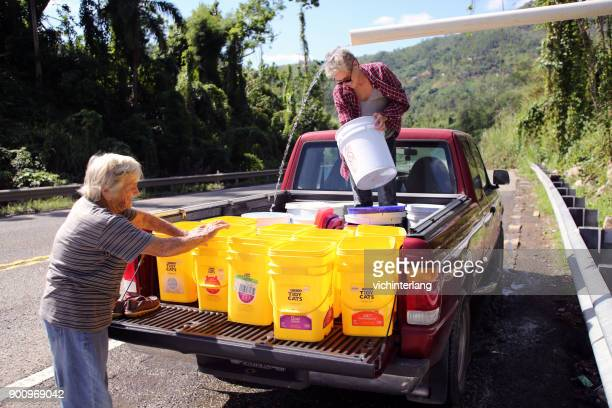 puerto rico recovery, dec., 2017 - 2017 hurricane maria stock pictures, royalty-free photos & images