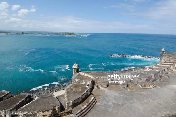 Puerto Rico, San Juan, El Morro fort by Atlantic Ocean