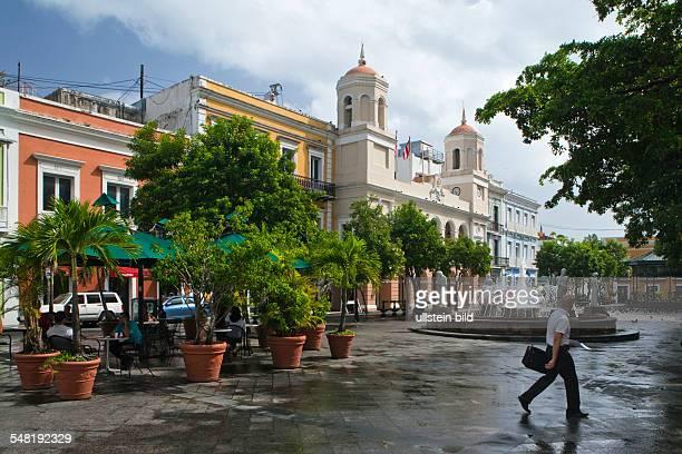Puerto Rico San Juan San Juan Street Calle de San Francisco in Old San Juan