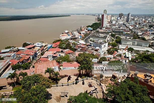 puerto santa ana, guayaquil, ecuador, south america. - guayaquil fotografías e imágenes de stock