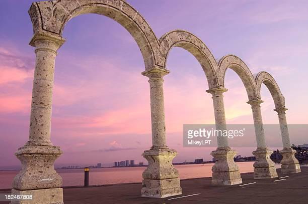"Puerto Vallarta Beachfront Boulvard ""Los Arcos"" Mounument"