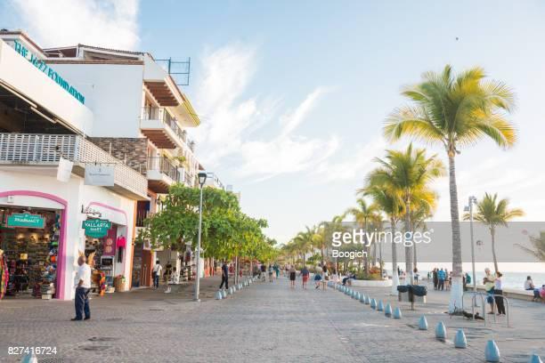 Puerto Vallarta Mexico Malecon Travel Destination Background