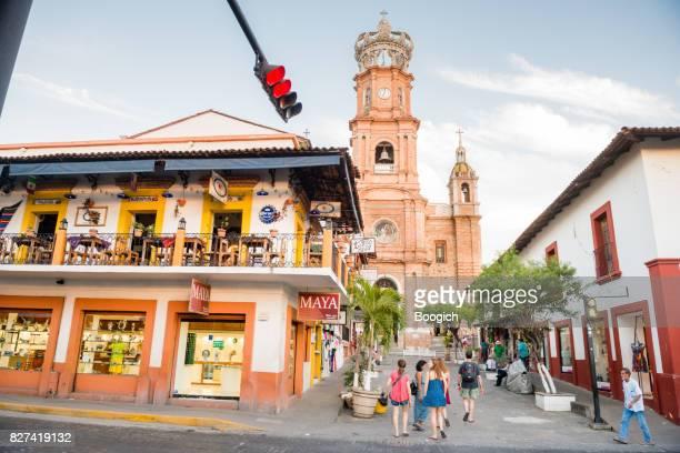 Puerto Vallarta Travel Destination Cathedral and Street Scene