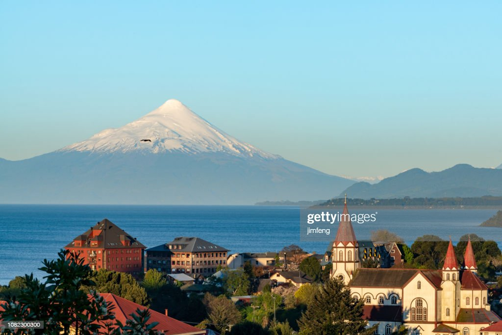 Puerto Varas at Dusk : Stock Photo