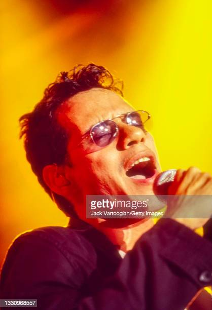 Puerto-Rican American Latin, Salsa, Tropical, and R&B singer Marc Anthony performs at Roseland Ballroom, New York, New York, August 4, 1999.