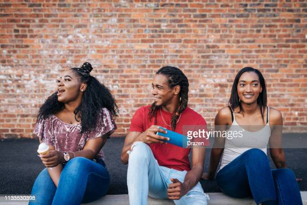 puertorican and african-american youth together - puerto rican ethnicity stock pictures, royalty-free photos & images