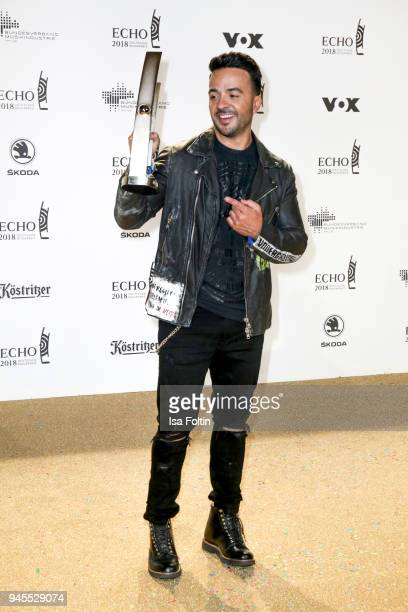 PuertoRican singer and award winner Luis Fonsi during the Echo Award after show party at Palais am Funkturm on April 12 2018 in Berlin Germany