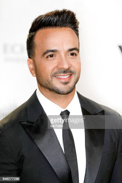 PuertoRican singer Luis Fonsi arrives for the Echo Award at Messe Berlin on April 12 2018 in Berlin Germany