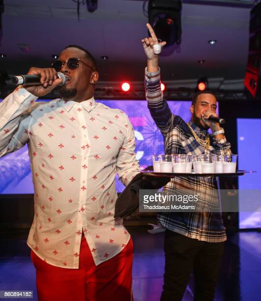 Puff Daddy and French Montana at Eden Roc Hotel on October 12 2017 in Miami Beach Florida
