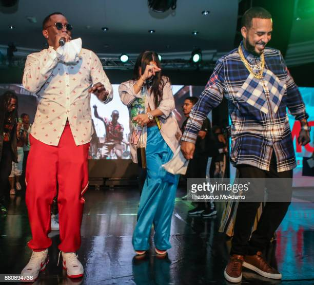 Puff Daddy Cassie and French Montana performing at Eden Roc Hotel on October 12 2017 in Miami Beach Florida