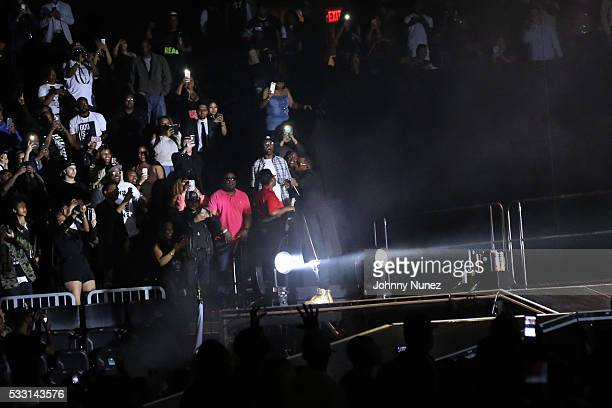 Puff Daddy greets audience members during the Bad Boy Reunion Tour Opening Night at Barclays Center on May 20 2016 in New York City