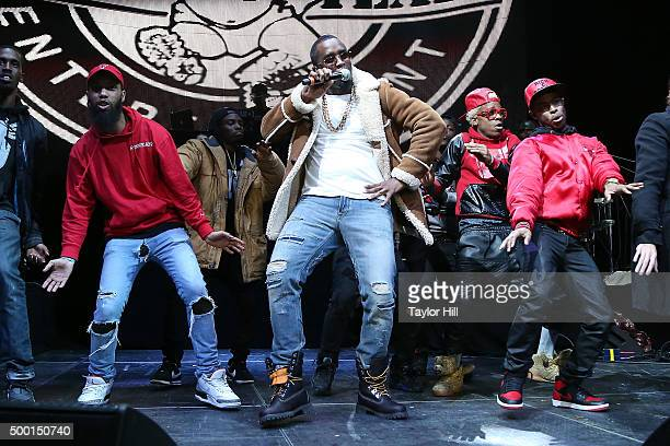 """Puff Daddy performs during Hot 97's """"Busta Rhymes And Friends: Hot For The Holidays"""" concert at Prudential Center on December 5, 2015 in Newark, New..."""