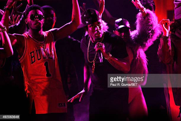 Puff Daddy performs onstage at the BET Hip Hop Awards Show 2015 at the Atlanta Civic Center on October 9, 2015 in Atlanta, Georgia.