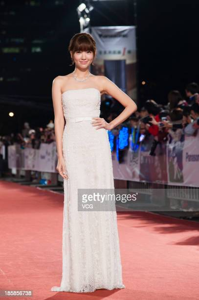 Puff Kuo attends the red carpet of the 48th Golden Bell Award on October 25 2013 in Taipei Taiwan of China