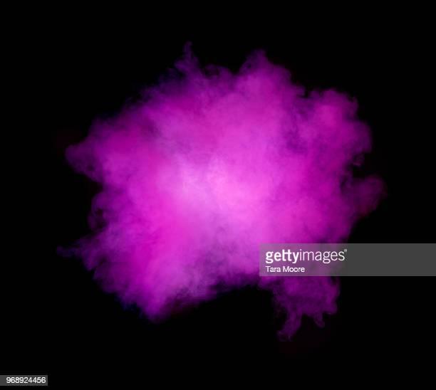 puff of purple smoke - roxo - fotografias e filmes do acervo