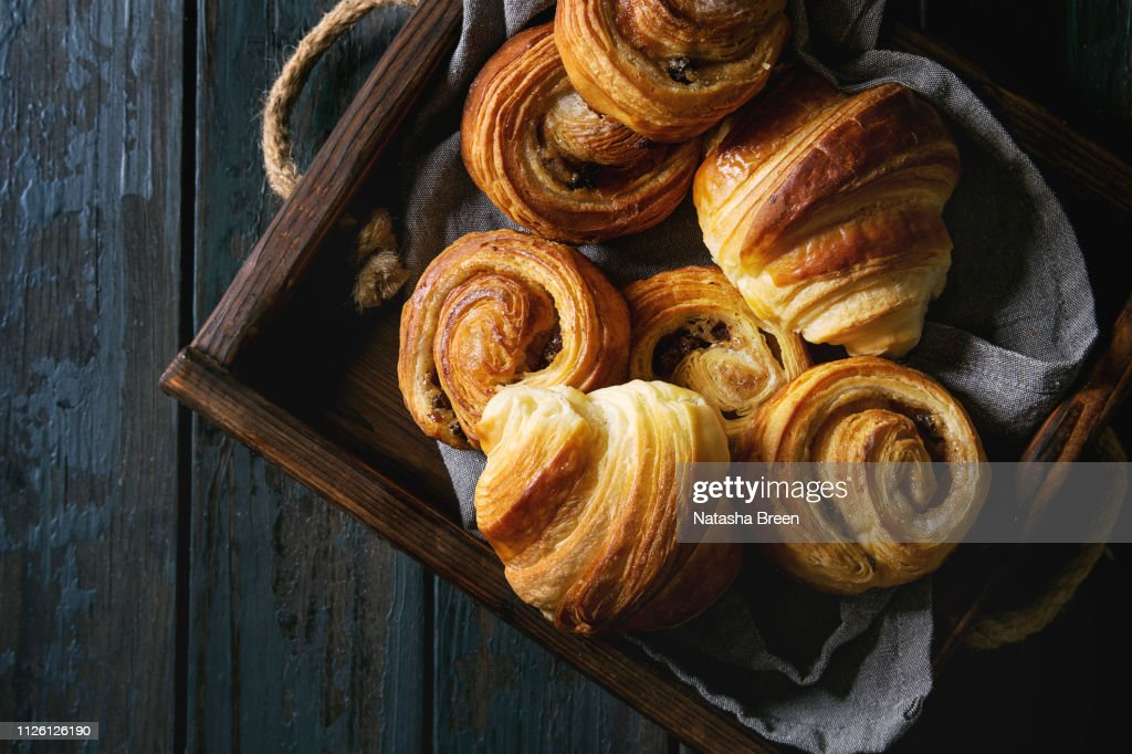 Puff pastry buns : Stock Photo