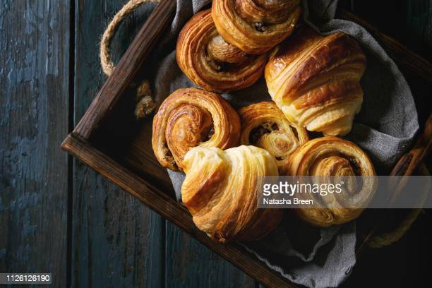 puff pastry buns - bun bread stock pictures, royalty-free photos & images