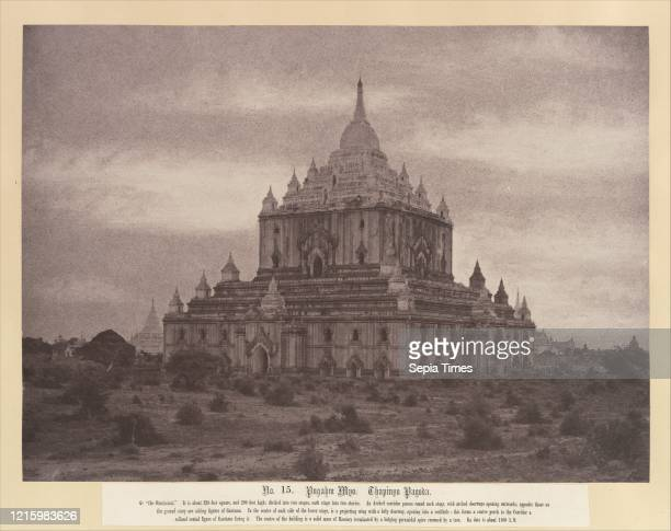 Thapinyu Pagoda. August 20Ð24. 1855. Image: 25.1 x 34.5 cm . Photographs. Linnaeus Tripe . Here the Thapinyu Pagoda. The tallest structure at Pugahm...