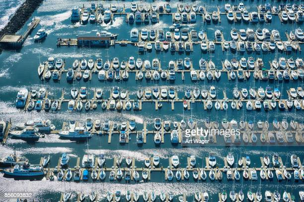 puget sound marina aerial - marina stock pictures, royalty-free photos & images