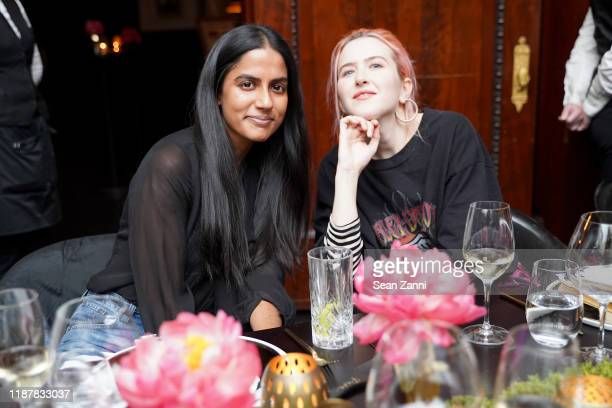 Puja Prakash and Mia Vesper attend Swizz Beatz and the Marriott Bonvoy™ American Express® Credit Card portfolio Celebrate Women in Art on November 14...