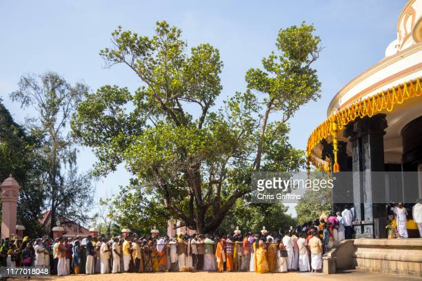 puja prayer offering for sree narayana guru at the sivagiri mutt - religious event stock pictures, royalty-free photos & images