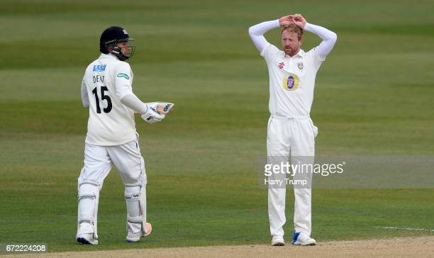Pul Collingwood of Durham reacts during the Specsavers County Championship Division Two match between Gloucestershire and Durham at The Brightside...