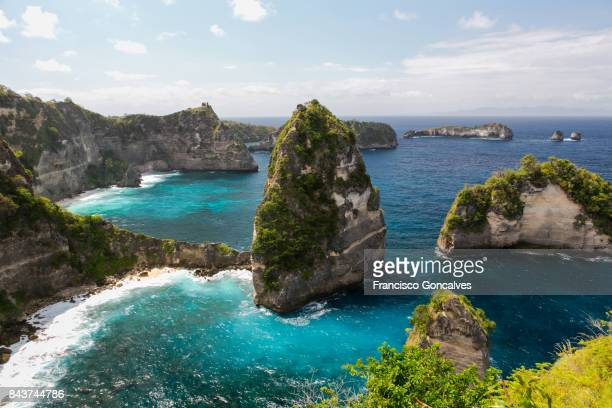 pulau seribu in nusa penida, bali - indonesia stock pictures, royalty-free photos & images
