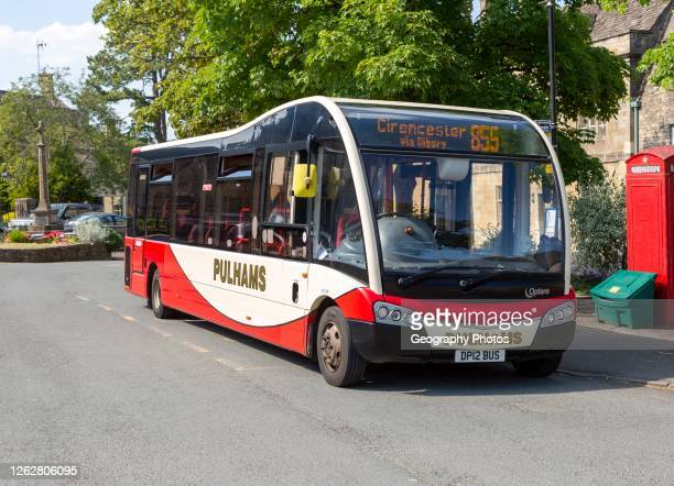 Pulhams bus service to Cirencester in Northleach, Gloucestershire, Cotswolds, England, UK.