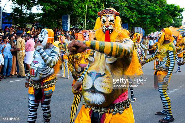 CONTENT] Puli Kali is a colorful recreational folk art from the state of Kerala It is performed by trained artists to entertain people on the...